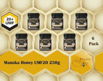 Manuka Honey UMF 20+ (MGO ≥ 829) 6 pack 250g