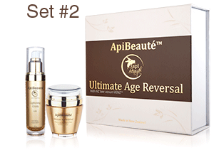 ApiBeaute' Gift Box with Lightening Cream and Platinum Wrinkle Solution Mask